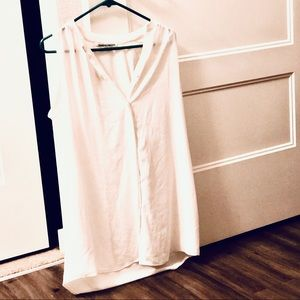 Collective Concepts White Sleeveless Tunic Dress